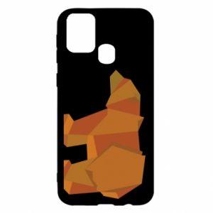 Etui na Samsung M31 Brown bear abstraction