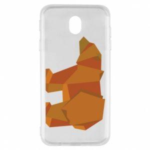 Etui na Samsung J7 2017 Brown bear abstraction