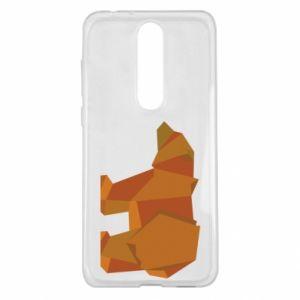 Etui na Nokia 5.1 Plus Brown bear abstraction