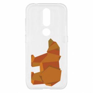 Etui na Nokia 4.2 Brown bear abstraction
