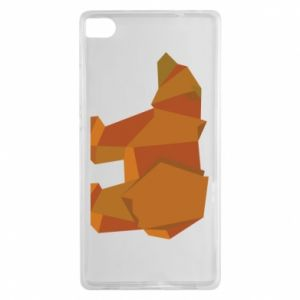 Etui na Huawei P8 Brown bear abstraction