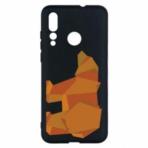 Etui na Huawei Nova 4 Brown bear abstraction
