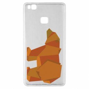 Etui na Huawei P9 Lite Brown bear abstraction
