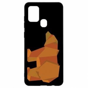 Etui na Samsung A21s Brown bear abstraction