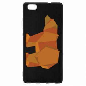 Etui na Huawei P 8 Lite Brown bear abstraction