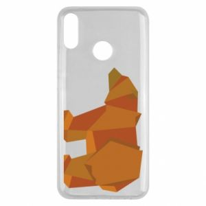 Etui na Huawei Y9 2019 Brown bear abstraction