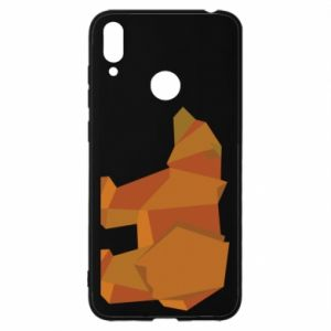 Etui na Huawei Y7 2019 Brown bear abstraction