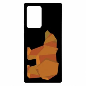 Etui na Samsung Note 20 Ultra Brown bear abstraction