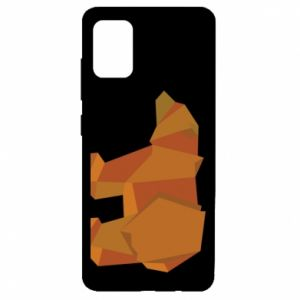 Etui na Samsung A51 Brown bear abstraction