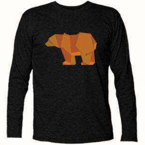 Long Sleeve T-shirt Brown bear abstraction - PrintSalon