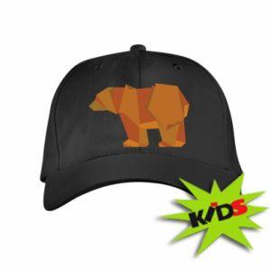 Kids' cap Brown bear abstraction - PrintSalon