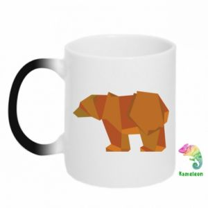Kubek-kameleon Brown bear abstraction