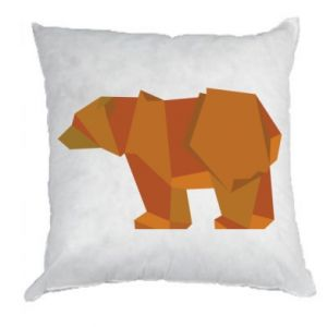 Poduszka Brown bear abstraction