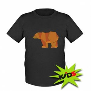 Dziecięcy T-shirt Brown bear abstraction