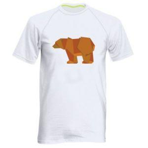 Men's sports t-shirt Brown bear abstraction - PrintSalon