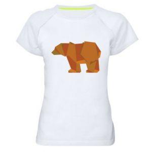Women's sports t-shirt Brown bear abstraction - PrintSalon
