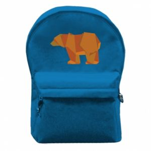 Backpack with front pocket Brown bear abstraction - PrintSalon