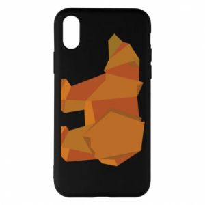 Etui na iPhone X/Xs Brown bear abstraction