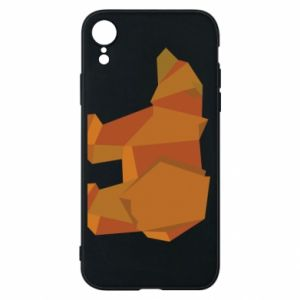 Etui na iPhone XR Brown bear abstraction