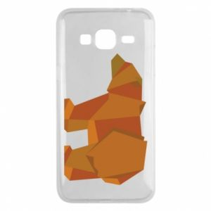 Etui na Samsung J3 2016 Brown bear abstraction
