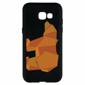 Etui na Samsung A5 2017 Brown bear abstraction