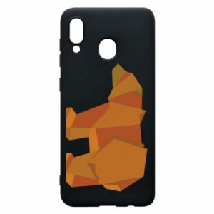 Etui na Samsung A20 Brown bear abstraction