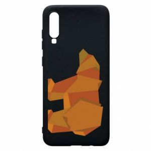 Etui na Samsung A70 Brown bear abstraction