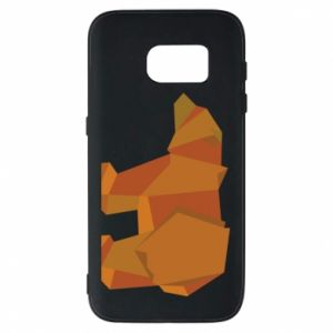 Etui na Samsung S7 Brown bear abstraction