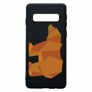 Etui na Samsung S10 Brown bear abstraction