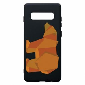 Etui na Samsung S10+ Brown bear abstraction