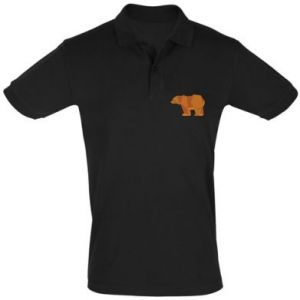Koszulka Polo Brown bear abstraction