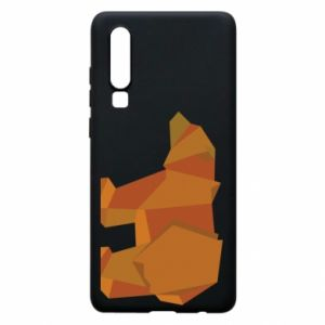 Etui na Huawei P30 Brown bear abstraction