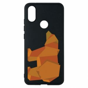 Etui na Xiaomi Mi A2 Brown bear abstraction