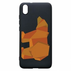 Etui na Xiaomi Redmi 7A Brown bear abstraction