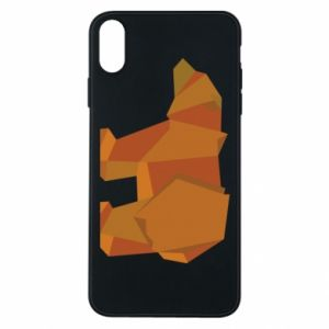 Etui na iPhone Xs Max Brown bear abstraction