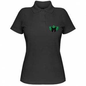 Damska koszulka polo Brown-eyed panther - PrintSalon