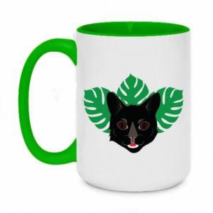 Two-toned mug 450ml Brown-eyed panther