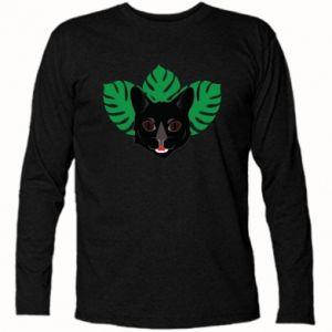 Koszulka z długim rękawem Brown-eyed panther - PrintSalon