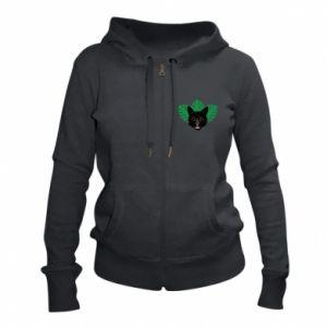 Women's zip up hoodies Brown-eyed panther