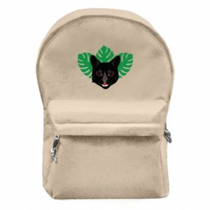 Backpack with front pocket Brown-eyed panther