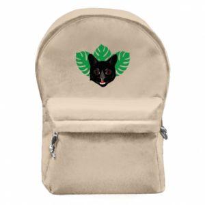 Plecak z przednią kieszenią Brown-eyed panther - PrintSalon