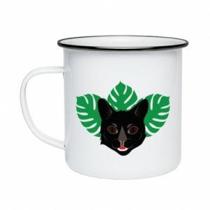 Enameled mug Brown-eyed panther