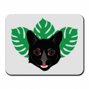Podkładka pod mysz Brown-eyed panther - PrintSalon