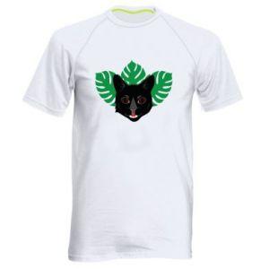 Męska koszulka sportowa Brown-eyed panther - PrintSalon