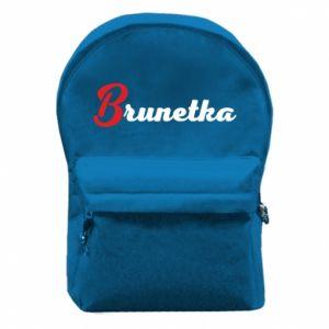 Plecak z przednią kieszenią Brunetka