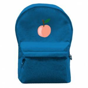 Plecak z przednią kieszenią Brzoskwinia