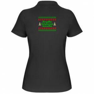 Koszulka polo damska Brzydka świąteczna koszulka