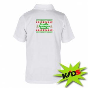 Dziecięca koszulka polo Brzydka świąteczna koszulka