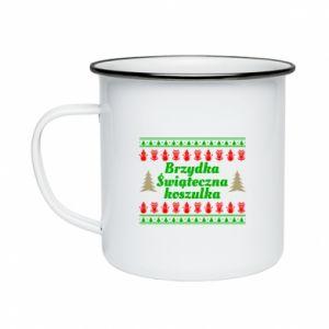 Kubek emaliowany Brzydka świąteczna koszulka