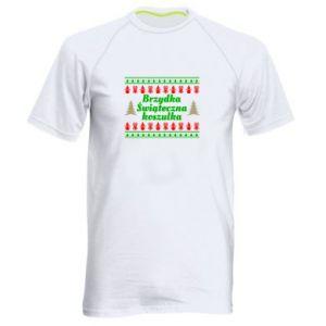 Koszulka sportowa męska Brzydka świąteczna koszulka